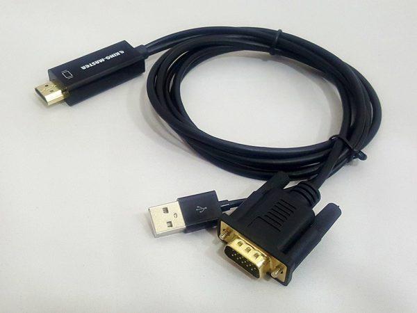 CÁP HDMI -> VGA + USB KINGMASTER (KY-H129B)